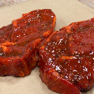Texas rib eye steaks